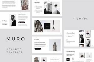 MURO - Keynote Template + Big Bonus