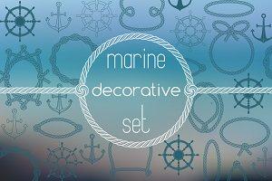 Marine decorative set