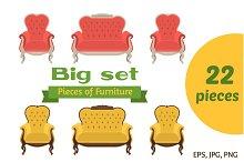 Pieces of Furniture - Big set