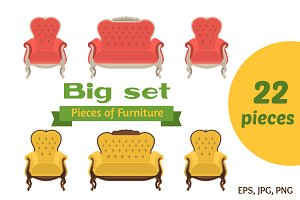 Pieces of Furniture - Big set