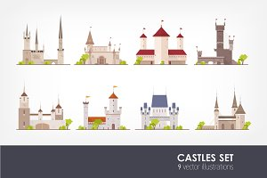 Set of ancient castles, fortresses