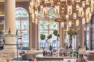 wine bar in luxury restaurant