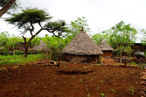 Traditional Konso tribe village in K