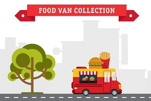 Set of Food Truck Illustrations