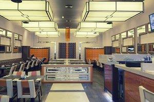 Interior of restaurant in eastern  s