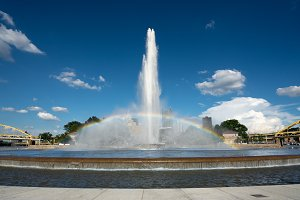 Point State Park Fountain in