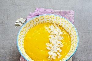 Yellow mango smoothie
