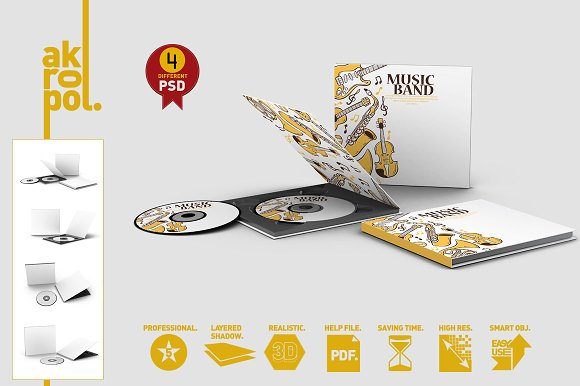 Download CD Case & Disc Mock-ups