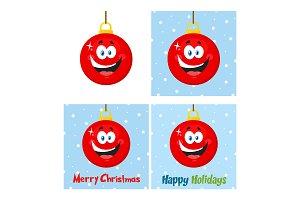 Red Christmas Ball Collection