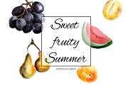 50% OFF - Watercolor fruits | Summer