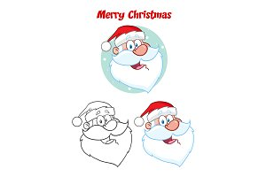 Santa Claus Face. Collection