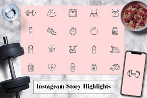 Health & Fitness Instagram Icons