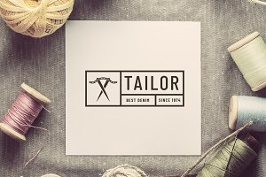 Retro tailor seal logotype