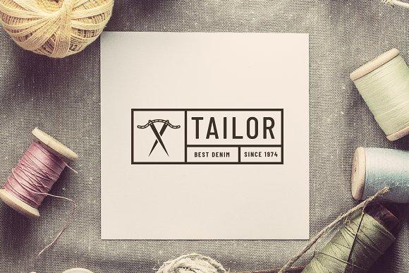 Retro tailor seal logotype