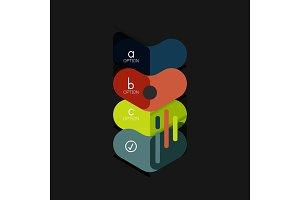 Flat design geometric infographics