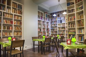 cafe in book store