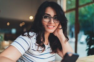 Lifestyle portrait of cute girl