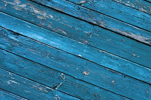 Blue wooden old wall background