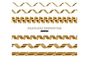 Spiral golden serpentine seamless