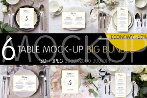 Table Settings Mock-up Bundle