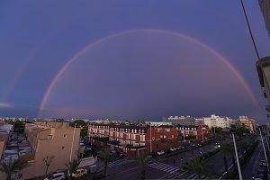 Double rainbow over the sky of the c