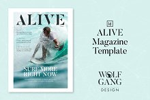 ALIVE Magazine Template by  in Magazines