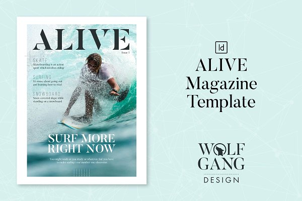 Magazine Templates: Wolfgang Design - ALIVE Magazine Template