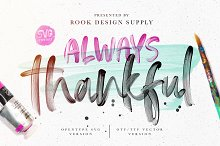 Always Thankful - SVG Font Duo