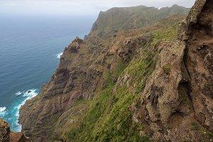 Cliff in Anaga mountains, Tenerife.