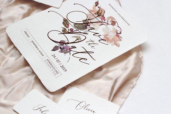 Templates: jul_andersen - Roses Wedding Invitation Suite 2