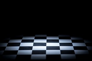 abstract chessboard on dark backgrou