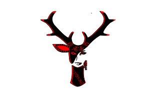 Abstract half deer-half girl
