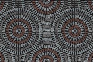 Ornate paving variegated texture