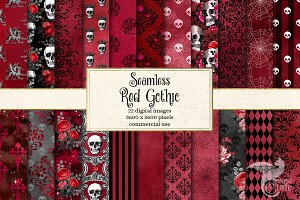 Seamless Red Gothic Digital Paper