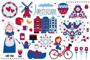 Amsterdam illustrations