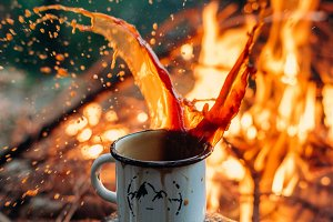 coffee on a campfire