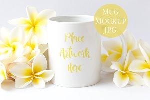 Frangipani Summer Mug Mockup