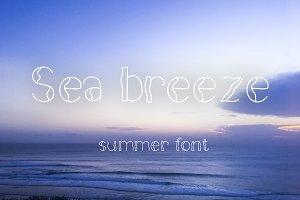 Sea breeze summer font