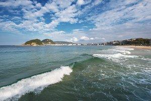 San Sebastian bay, Spain.