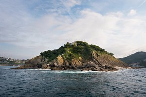 Santa clara island in San Sebastian