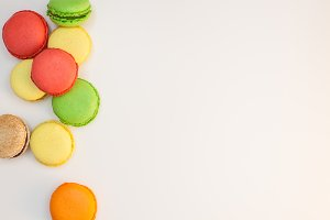Assorted sweet pastel color macaroon