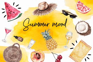 Summer Mood Watercolor Set