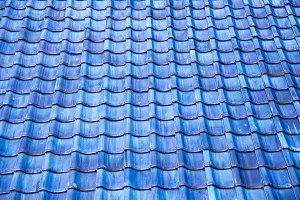 Japanese Blue Tiled Roof