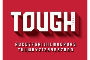 The Tough bold display font design