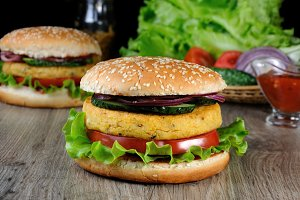dish of chickpeas or Nut Burger