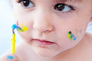 Beautiful painter girl