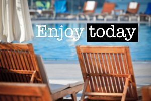 Enjoy today Poolside Chairs