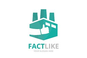 Vector factory and like logo