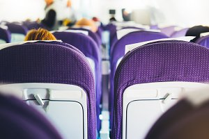 Passenger seats on the plane