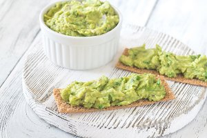 Sandwiches with guacamole